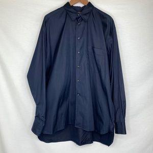 Coach Men's Blue Collared Button-Down Shirt